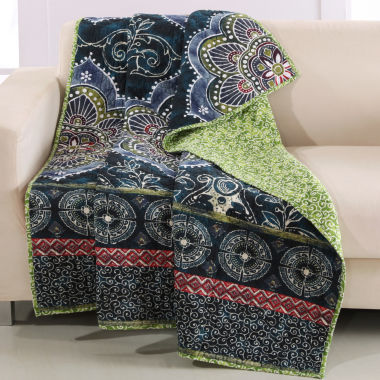jcpenney.com | Barefoot Bungalow 100% Cotton Twyla Reversible Throw