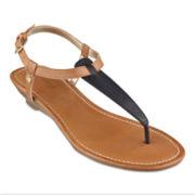 Liz Claiborne® Yasmine T-Strap Wedge Sandals