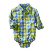 OshKosh B'gosh® Checked Bodysuit - Boys 3m-24m