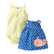 Carter's® 3-pc. Whale Dress & Romper Set - Girls newborn-24m