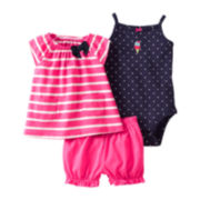Carter's® 3-pc. Ice Cream Short Set - Girls newborn-24m