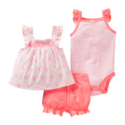 Carter's® 3-pc. Flamingo Short Set - Girls newborn-24m