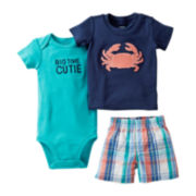 Carter's® 3-pc. Crab Short Set - Boys newborn-24m