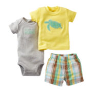Carter's® 3-pc. Turtle Short Set - Boys newborn-24m