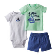 Carter's® 3-pc. Pirate Short Set - Boys newborn-24m