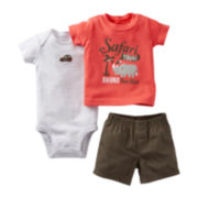 Carter's® 3-pc. Safari Short Set - Boys newborn-24m