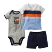 Carter's® 3-pc. Construction Short Set - Boys newborn-24m