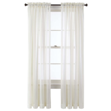 jcpenney.com | Queen Street® Farmington Rod-Pocket Sheer Panel