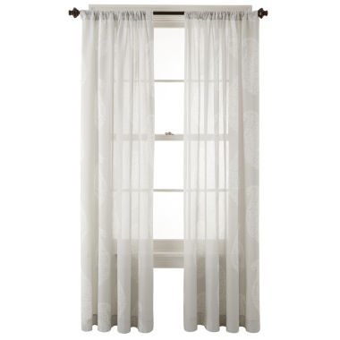 jcpenney.com | JCPenney Home™ Maura Rod-Pocket Cotton Sheer Panel