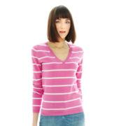 Joe Fresh™ Striped V-Neck Sweater
