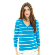 Joe Fresh™ Striped V-Neck Sweater
