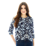Joe Fresh™ Slit-Neck Print Blouse