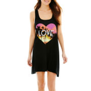 Arizona Graphic Print Racerback Tank Cover-Up - Juniors