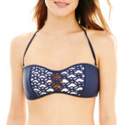 Ninety Six Degrees Laser-Cut Bandeau Swim Top