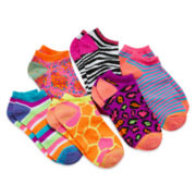 Total Girl® 6-pk. Animal No-Show Socks - Girls