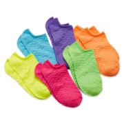 Total Girl® 6-pk. Textured No-Show Socks - Girls