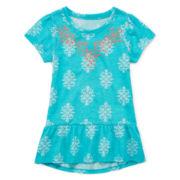 Arizona Cap-Sleeve Peplum Top – Girls 4-6x