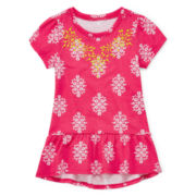 Arizona Cap-Sleeve Peplum Top – Girls 4-6x