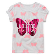 Arizona Puff-Sleeve Tee - Girls 4-6x