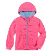 Nike® Zip-Front Hoodie – Girls 4-6x