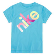 Nike® Dri-FIT Short-Sleeve Graphic Tee – Girls 4-6x