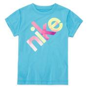 Nike® Dri-FIT Short-Sleeve Graphic Tee – Girls 4-6x