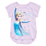 Disney Frozen Cuffed-Sleeve High-Low Top - Girls 7-16
