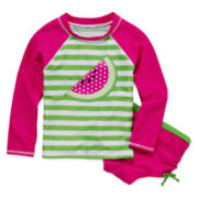 Watermelon Rash Guard 2 pc. Set – Girls 4-6x