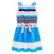Arizona Sleeveless Striped Voile Dress – Girls 7-16