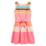 Arizona Sleeveless Striped Voile Dress - Girls 7-16