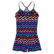 Arizona Sleeveless Racerback Romper – Girls 7-16