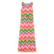 Total Girl® Sleeveless Chevron Maxi Dress - Girls 7-16