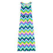 Total Girl® Sleeveless Chevron Maxi Dress – Girls 7-16