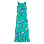 Total Girl® Sleeveless Lace Butterfly Maxi Dress - Girls 7-16