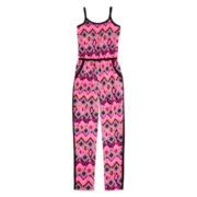 Total Girl® Sleeveless Colorblock Jumpsuit – Girls 7-16