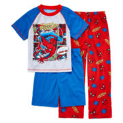 Spider-Man 3-pc. Pajama Set – Boys 4-12