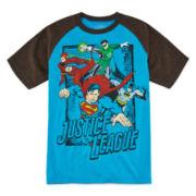 Justice League Short-Sleeve Raglan Tee - Boys 8-20