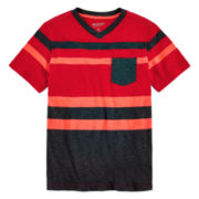Arizona Short-Sleeve Striped Pocket Tee - Boys 8-20