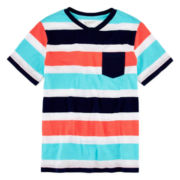 Arizona Short-Sleeve Striped Pocket Tee – Boys 8-20