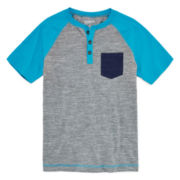 Arizona Short-Sleeve Pocket Henley – Boys 8-20