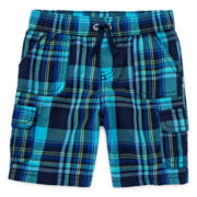 Arizona Plaid Cargo Shorts – Boys 3m-24m