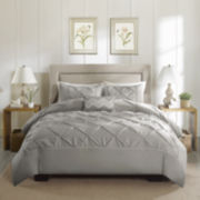 Madison Park Ella 4-pc. Cotton Percale Duvet Cover Set