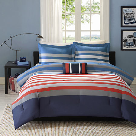 Mizone Noah Striped Comforter Set