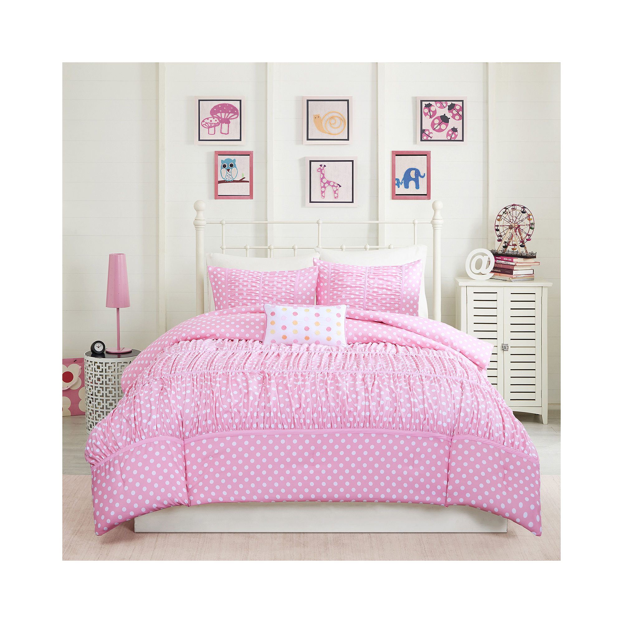 comforter marylin ruffle off queen set white product piece embellished