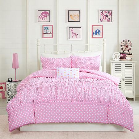 Mizone Penelope Ruched Comforter Set