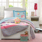 Mi Zone Kids Blooming Butterflies Quilt Set