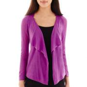 Worthington® 3/4-Sleeve Flyaway Cardigan Sweater - Petite