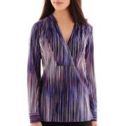 Worthington® Long-Sleeve Tunic Blouse