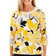 Alfred Dunner® Spring Bliss 3/4-Sleeve Floral Top