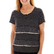 Alfred Dunner® Spring Bliss Short-Sleeve Tiered Top